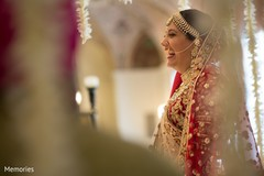 Indian bride looking beautiful during the ceremony