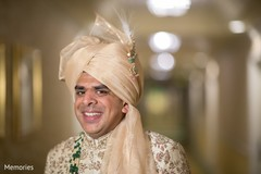 Indian groom looking amazing with pagri