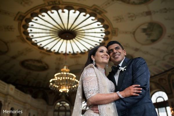 Maharani and Raja at the venue posing