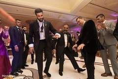 Indian groomsmen having a great time