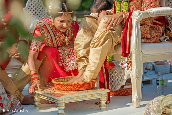 Indian groom at his ceremony ritual.