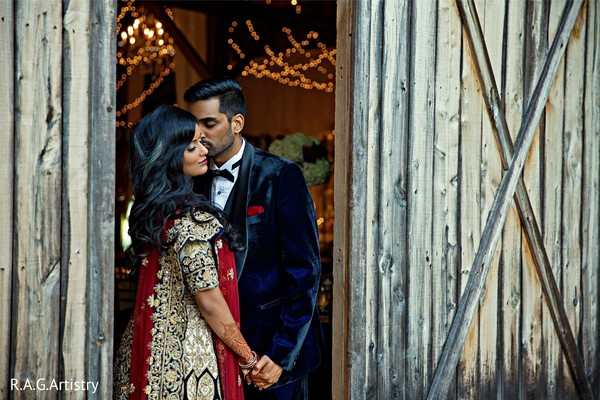 Indian lovebirds wedding portrait.