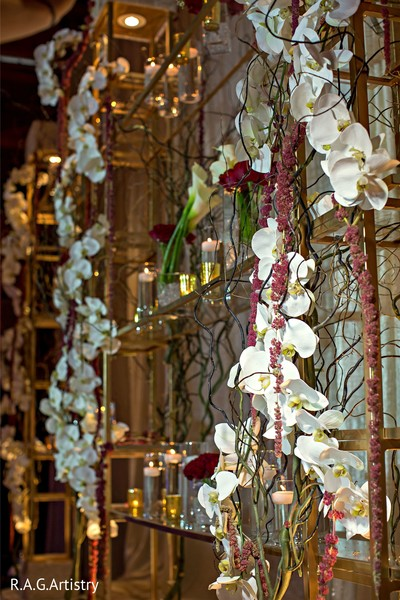 Stunning indian wedding stage flowers decoration.