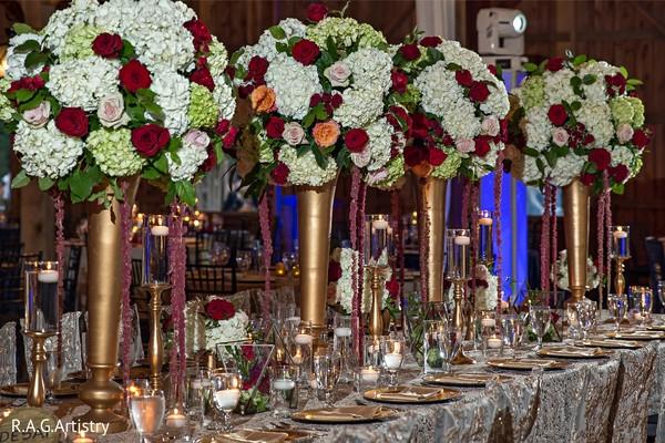 Magnificent Indain wedding table centerpice.