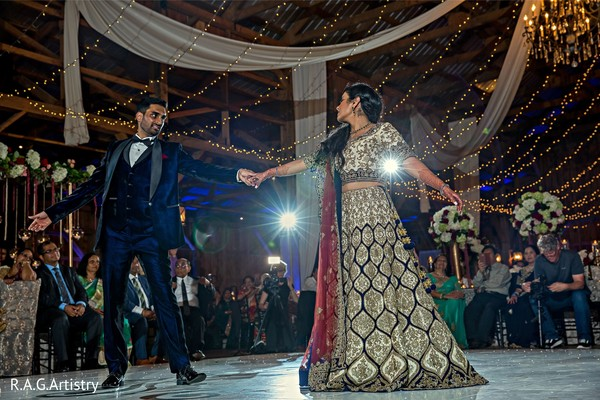 Incredible Indian couple's reception dance.