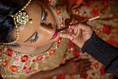 Indian bride getting ready for her big day.