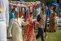 Maharani making her entrance to ceremony.