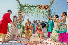 See this traditional Indian wedding ceremony photo.