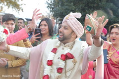 Indian groom on his baraat procession.