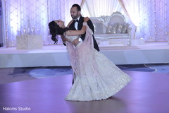 Dreamy Indian bride and groom reception dance.