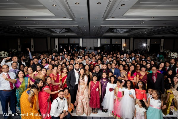 Amazing shot of the newlyweds with their guests