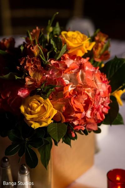 Floral arrangement details of the bash