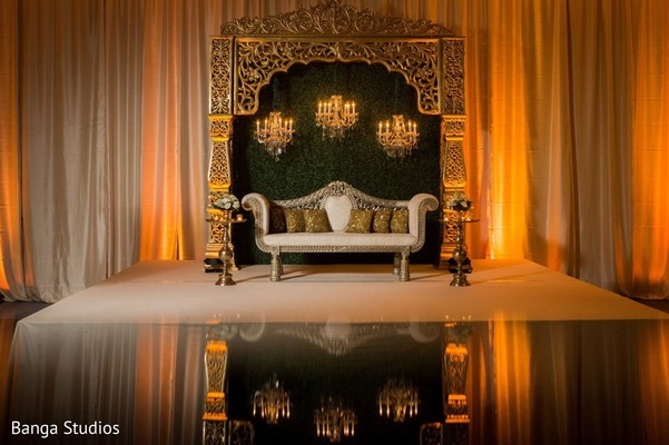 Indian couple's place ready for the reception