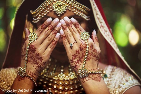 Closeup capture of maharani showing her jewelry.