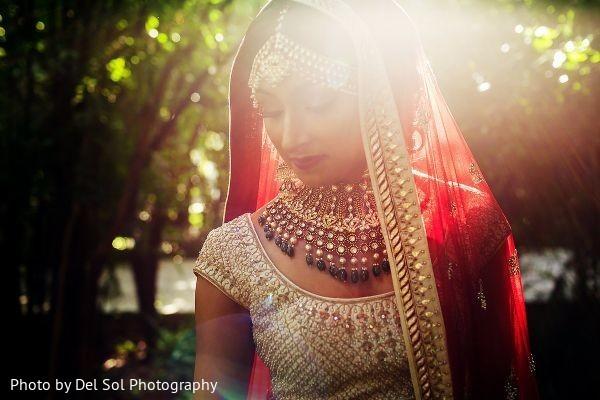 Glowing indian bride capture.
