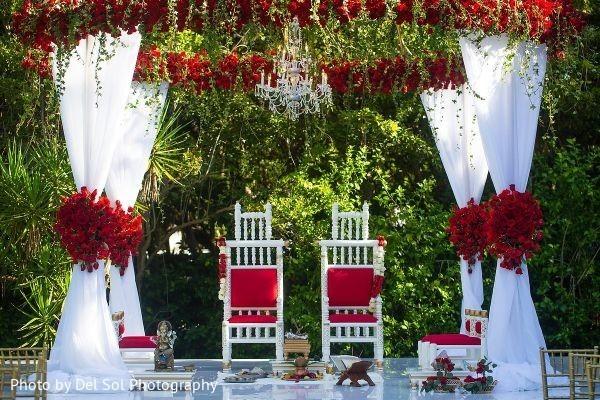 Spectacular indian wedding mandap flowers decor.