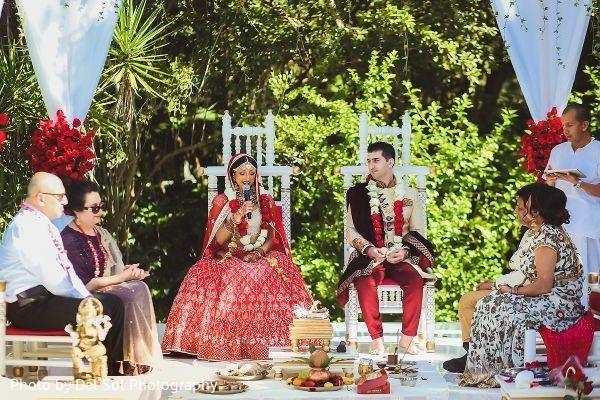 Maharani saying her vows.