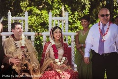 Adorable indian bride and groom.