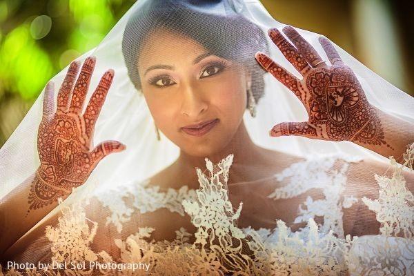 Adorable Indian bridal portrait.