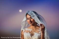 Enchanting indian bride photo shoot