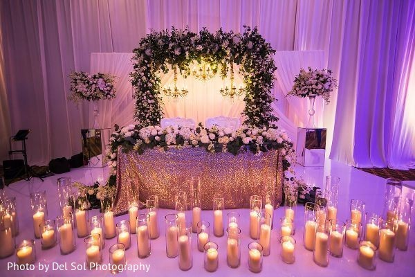 Stunning wedding reception stage.