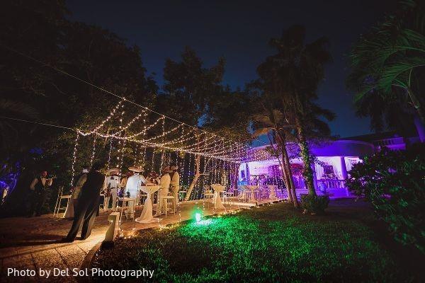 Marvelous Indian wedding reception entrance decor.