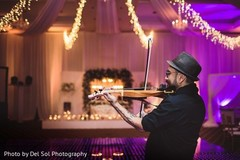 Romantic Indian wedding violin player capture.