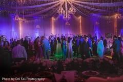 Magical Indian wedding reception celebration.