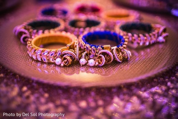 Elegant sangeet choora favors.