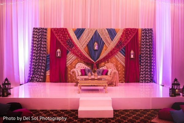 Magnificent Sangeet stage decoration.