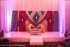 Magnificent Sangeet stage decoration.