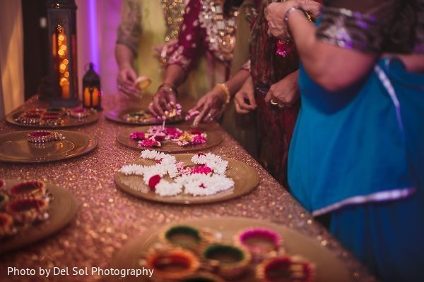 Take a look at this sangeet favors table.