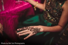 Incredible Indian wedding mehndi art.