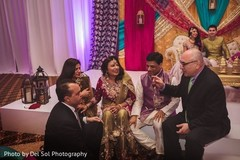 Indian relatives at sangeet photography.