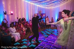 Marvelous Indian wedding guests dance.