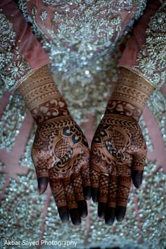 Marvelous mehndi on maharanis hands.