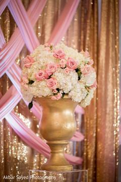 Perfect indian wedding reception floral decor.