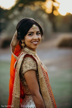 Cute indian bride photography.