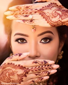 Flawless bride makeup.