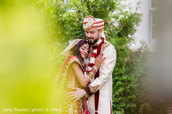 Indian bride and groom looking amazing