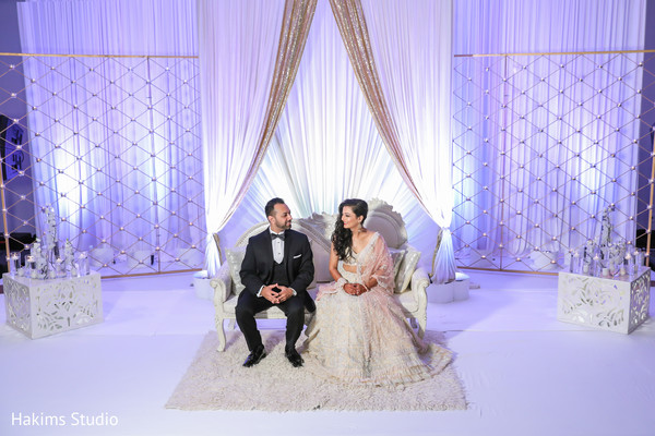 Glamorous Indian couple photo.
