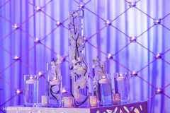 Stunning Indian wedding reception stage flowers decorations.