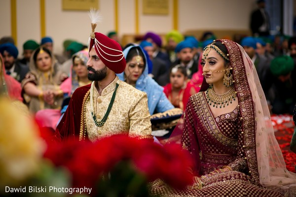 So in love Indian couple at Sikh ceremony.