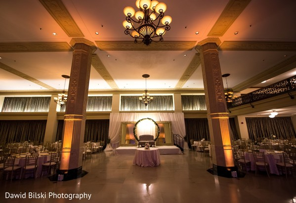 Stunning Indian wedding reception setup.