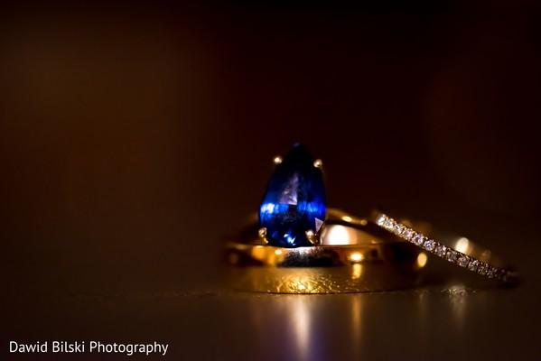 Stunning Indian wedding rings capture.