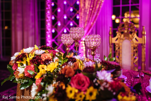 Indian wedding floral arrangement