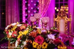 Indian wedding floral arrangement