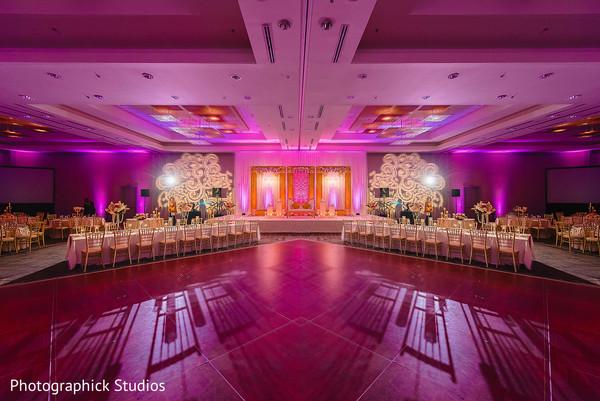 Incredible Indian wedding reception dance floor decor.
