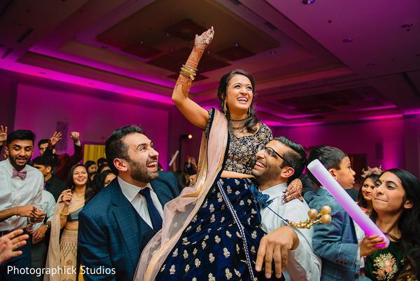 Maharani at her Indian wedding reception dance.