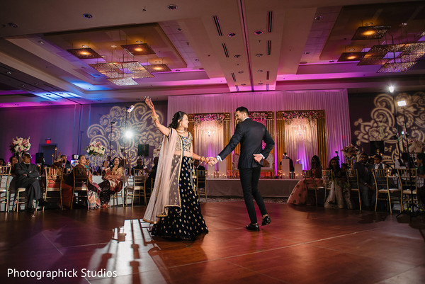Indian couple's magical reception dance.
